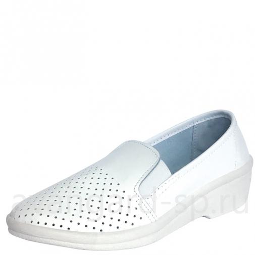 Туфли женские, мелкая перфорация,ПВХ