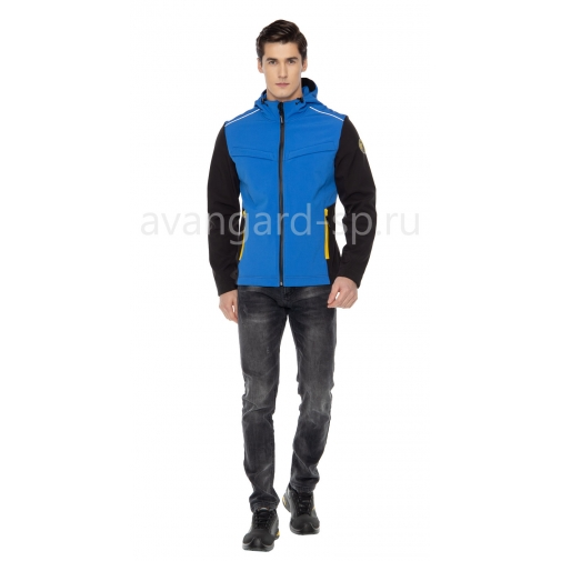"""Куртка софтшелл """"Тайм"""" с капюшоном синий"""
