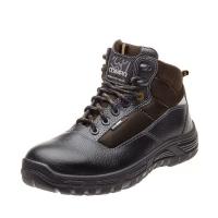 """Ботинки """"Бустер"""", чёрно-коричневый, КП, ПУ"""