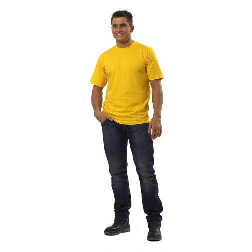 Футболка мужская с коротким рукавом цвет желтый