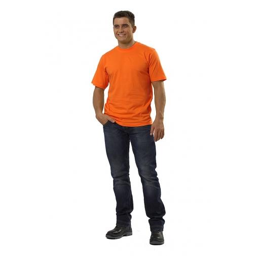 Футболка мужская с коротким рукавом цвет оранжевый