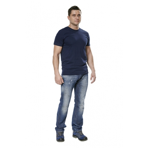 Футболка мужская с коротким рукавом цвет темно-синий