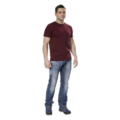 Футболка мужская с коротким рукавом цвет бордовый