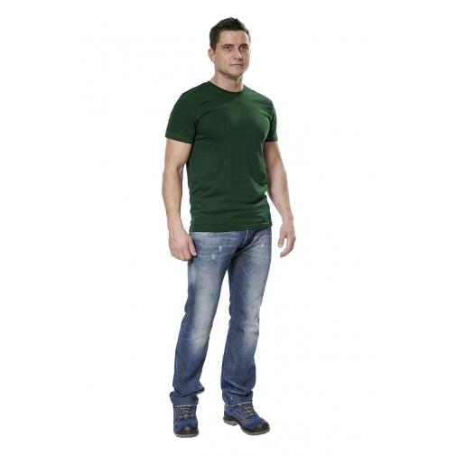 Футболка мужская с коротким рукавом цвет зеленый