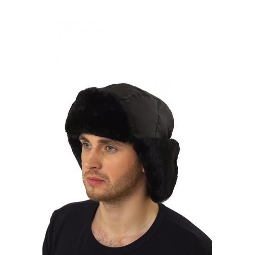 Шапка-ушанка зимняя цвет черный