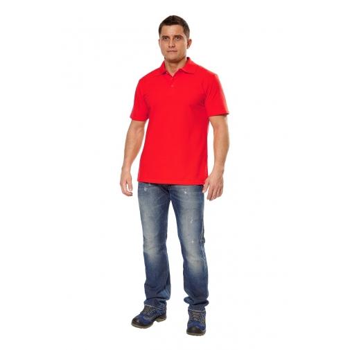 """Рубашка мужская """"Поло"""" короткий рукав цвет красный"""