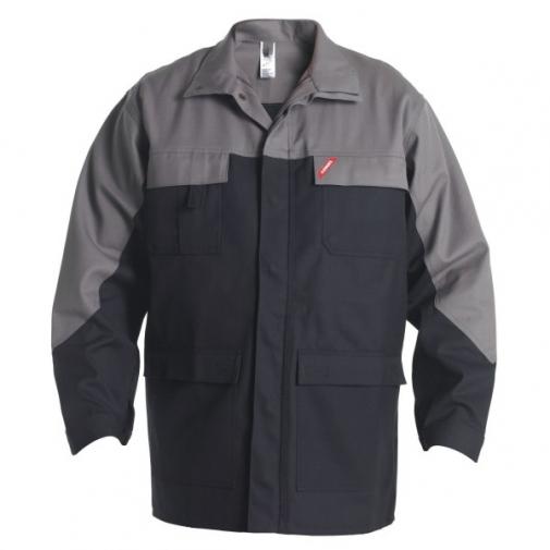 Антистатическая огнеупорная куртка Engel Safety + 1234-820, черный/серый