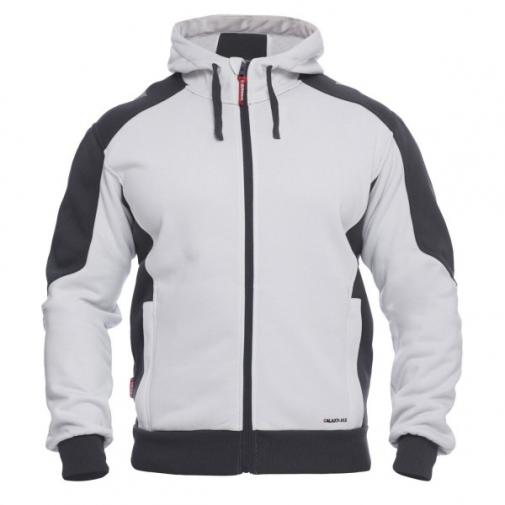 Толстовка флисовая с капюшоном Engel Galaxy 8820-233, белый/серый