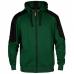 Толстовка флисовая с капюшоном Engel Galaxy 8820-233, зеленый/черный