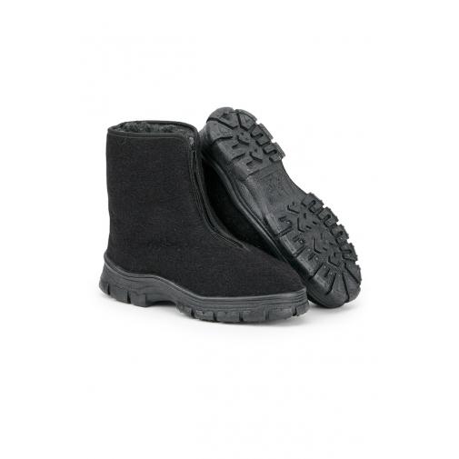 Ботинки мужские зимние утепленные суконные цвет черный