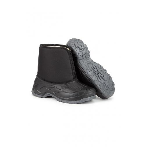 Ботинки зимние утепленные с накладкой ТЭП цвет черный