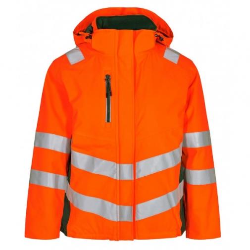 Женская зимняя рабочая куртка Engel Safety 1943-930, сигнальный оранжевый/зеленый