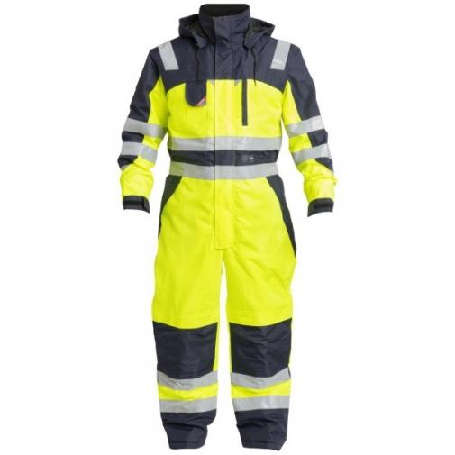 Зимний рабочий комбинезон Engel Safety 4201-928, желтый/темно-синий