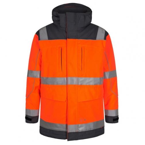 Зимняя рабочая куртка-парка Engel Safety 1400-928, сигнальный оранжевый/серый