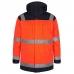 Зимняя рабочая куртка-парка Engel Safety 1400-928, сигнальный оранжевый/синий