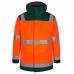 Зимняя рабочая куртка-парка Engel Safety 1400-928, сигнальный оранжевый/зеленый