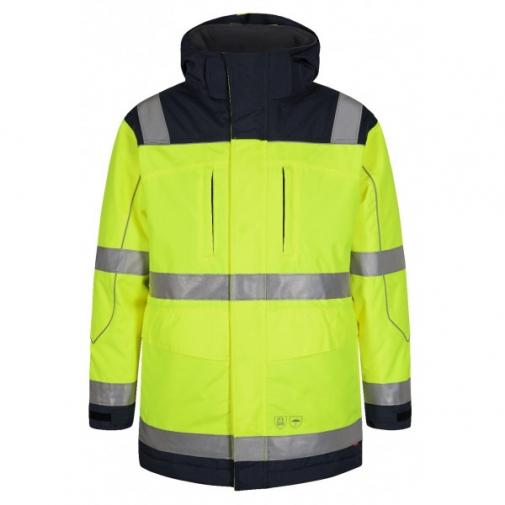 Зимняя рабочая куртка-парка Engel Safety 1400-928, сигнальный желтый/синий
