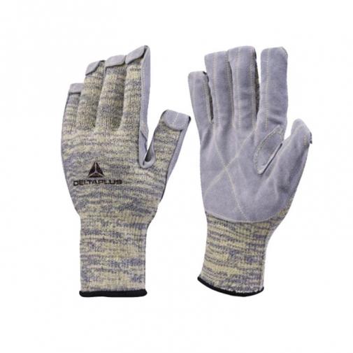 Перчатки трикотажные с покрытием из кожи