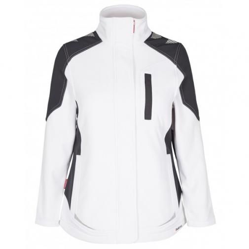 Женская рабочая куртка софтшелл Engel Galaxy 8815-229, белый/темно-серый