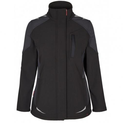 Женская рабочая куртка софтшелл Engel Galaxy 8815-229, черный/серый
