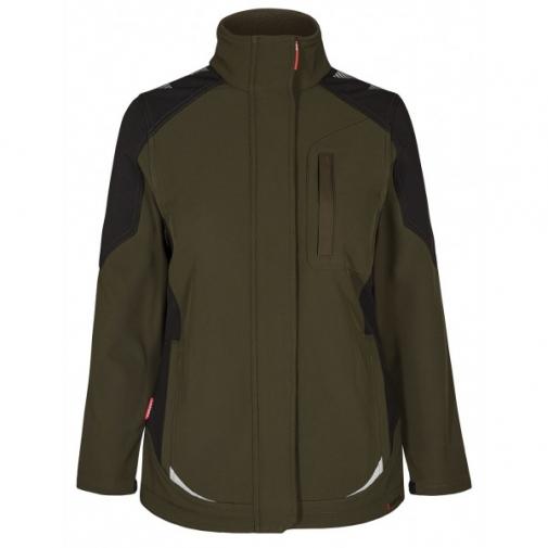 Женская рабочая куртка софтшелл Engel Galaxy 8815-229, хаки/черный
