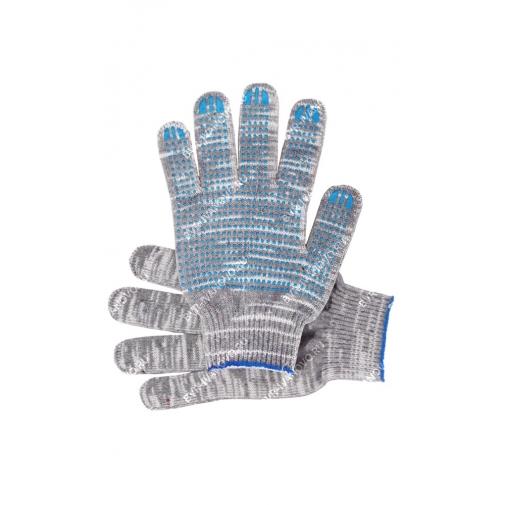 10,5 - Перчатки 10 класс (5 нитей) графит с ПВХ