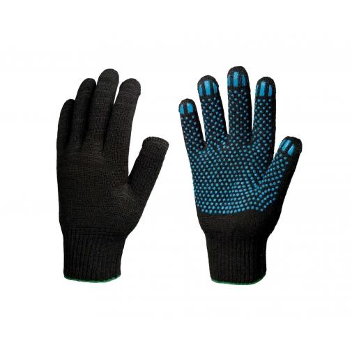 10,5 - Перчатки 10 класс (5 нитей) черные с ПВХ