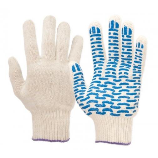 10,5 - Перчатки 10 класс (5 нитей) с ПВХ волна
