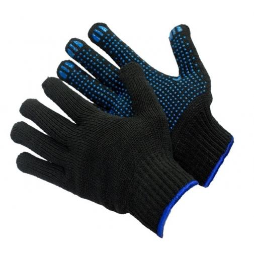 10,6 - Перчатки 10 класс (6 нитей) черные с ПВХ