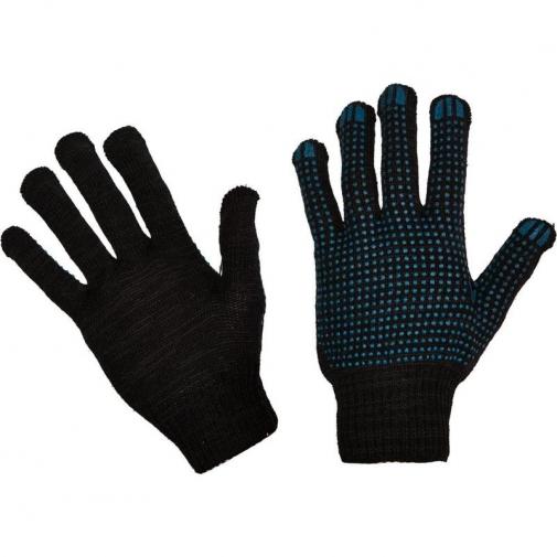 10,4 - Перчатки 10 класс (4 нити) черные с ПВХ