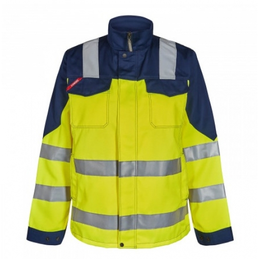 Женская рабочая куртка Engel Safety 1541-770, сигнальный желтый/темно-синий