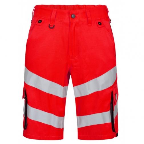 Сигнальные шорты Engel Safety 6545-319, сигнальный красный/черный