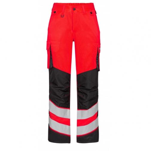 Женские сигнальные брюки Engel Safety 2543-319 сигнальный красный/черный