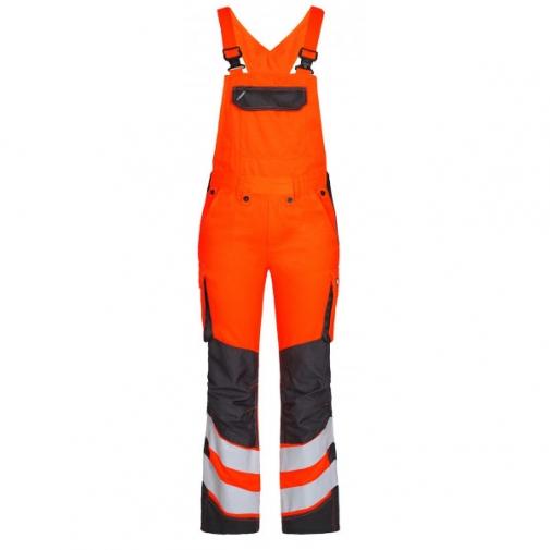 Женский сигнальный полукомбинезон Engel Safety 3543-319 сигнальный оранжевый/серый