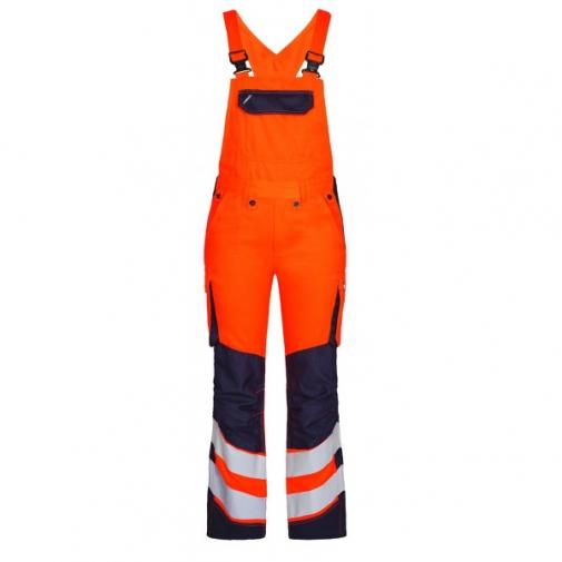 Женский сигнальный полукомбинезон Engel Safety 3543-319 сигнальный оранжевый/синий