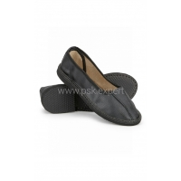 Тапочки закрытые кожаные цвет черный