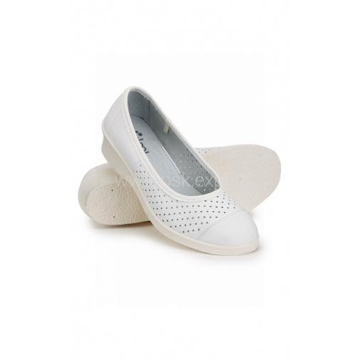 """Туфли женские """"Блонд"""" кожаные цвет белый"""