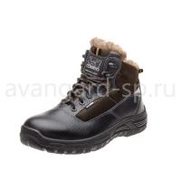 """Ботинки """"Бустер"""", чёрно-коричневый, шерст. мех, КП, ПУ"""